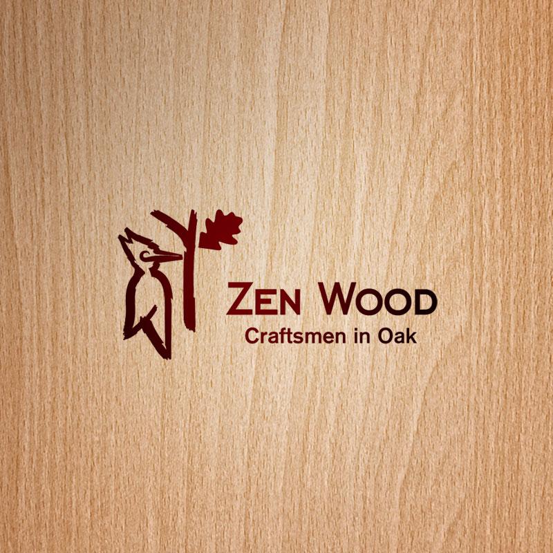 Elegant Modern Delivery Logo Design For Zen Wood Craftsmen In Oak