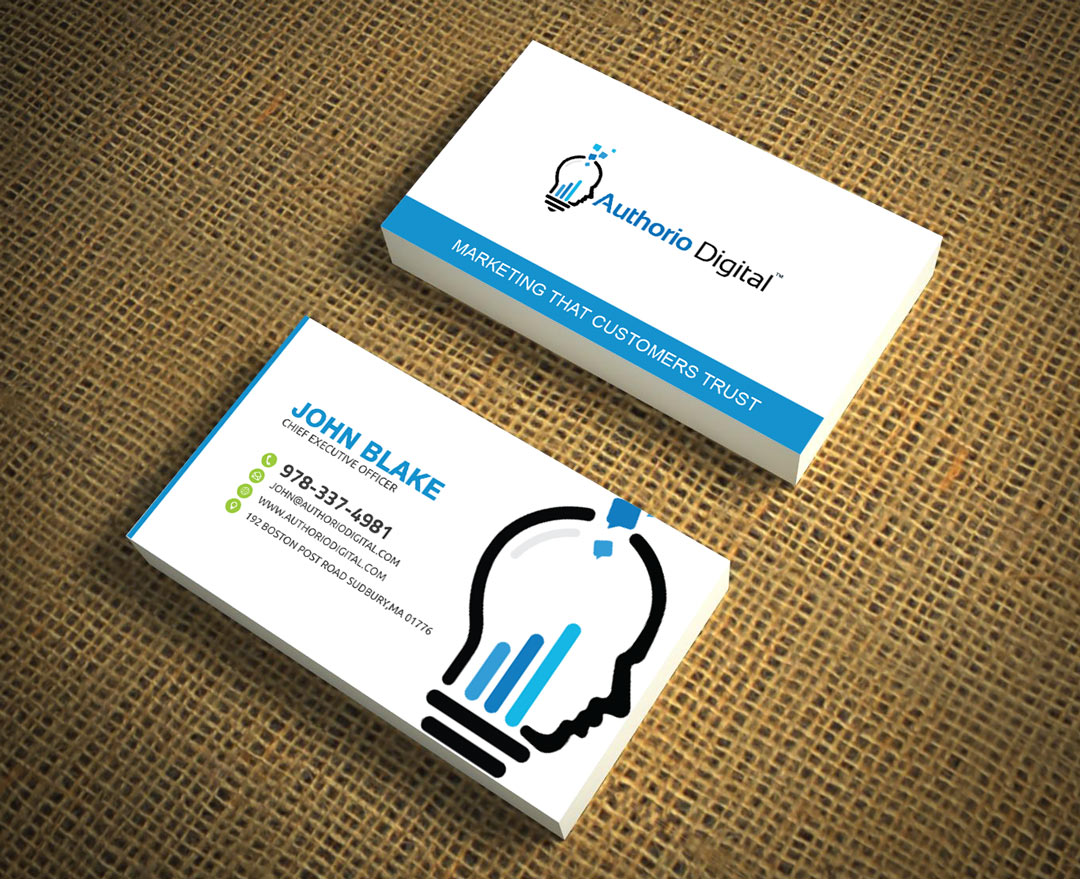Bold, Professional, Marketing Business Card Design for a Company by ...