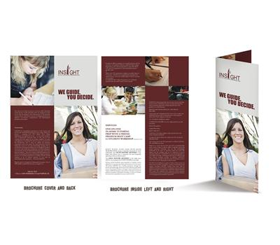 Purple Cost For Brochure Design 20594