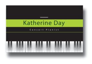 Concert Pianist Business Card Design