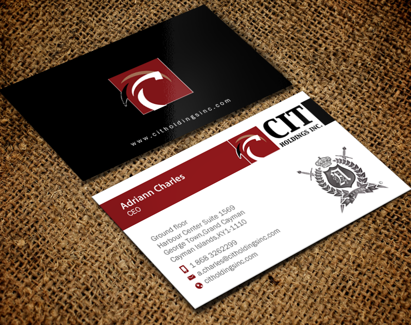 Business Card Design By Chandrayaancreative For CIT Holdings Inc