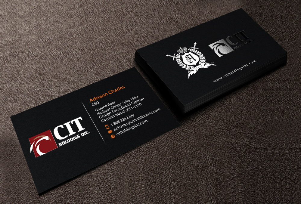 Professional serious construction business card design for cit business card design by chandrayaaneative for cit holdings inc design 10679856 reheart Image collections