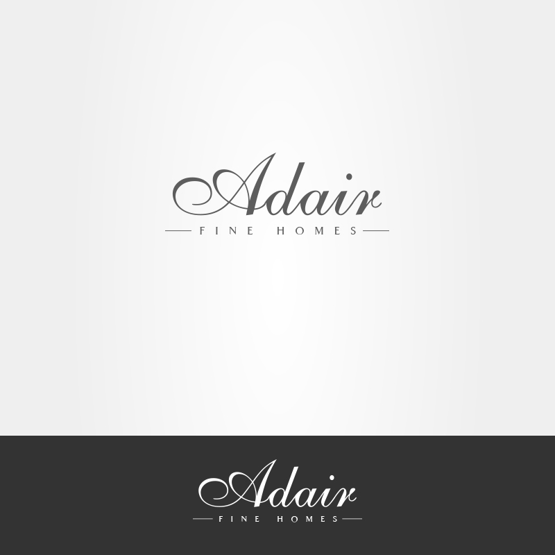 Bold modern home builder logo design for adair fine for Modern house logo