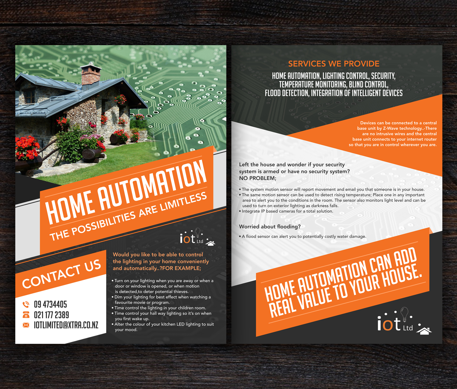Modern Colorful Home And Garden Flyer Design For A Company