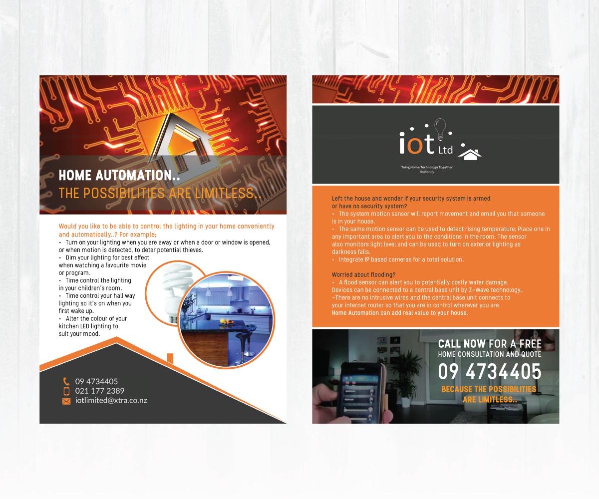 Home Automation Business Needs Captivating Flyer Design To