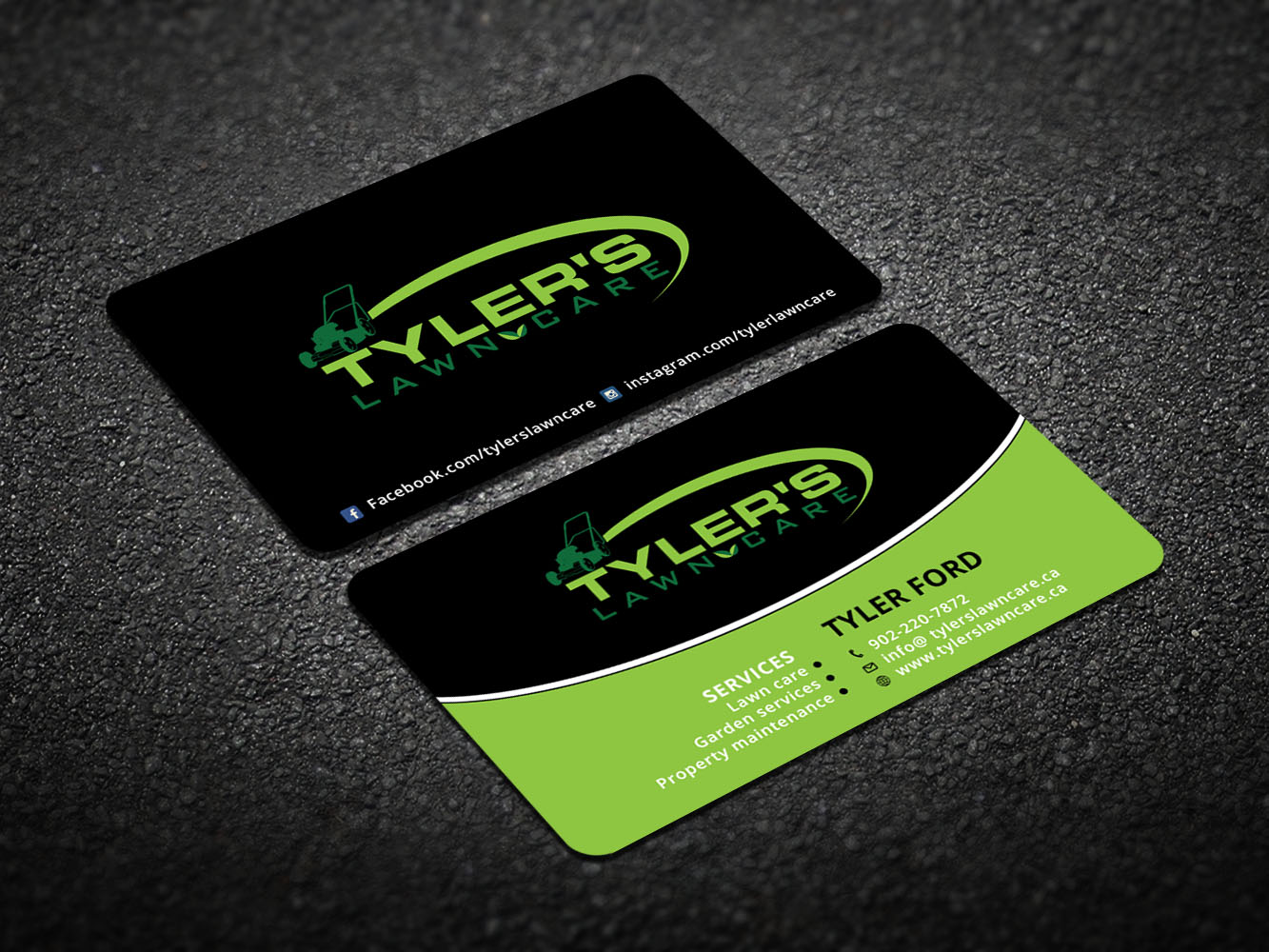 Modern bold lawn care business card design for tylers lawn care business card design by design xeneration for tylers lawn care design 10617066 colourmoves