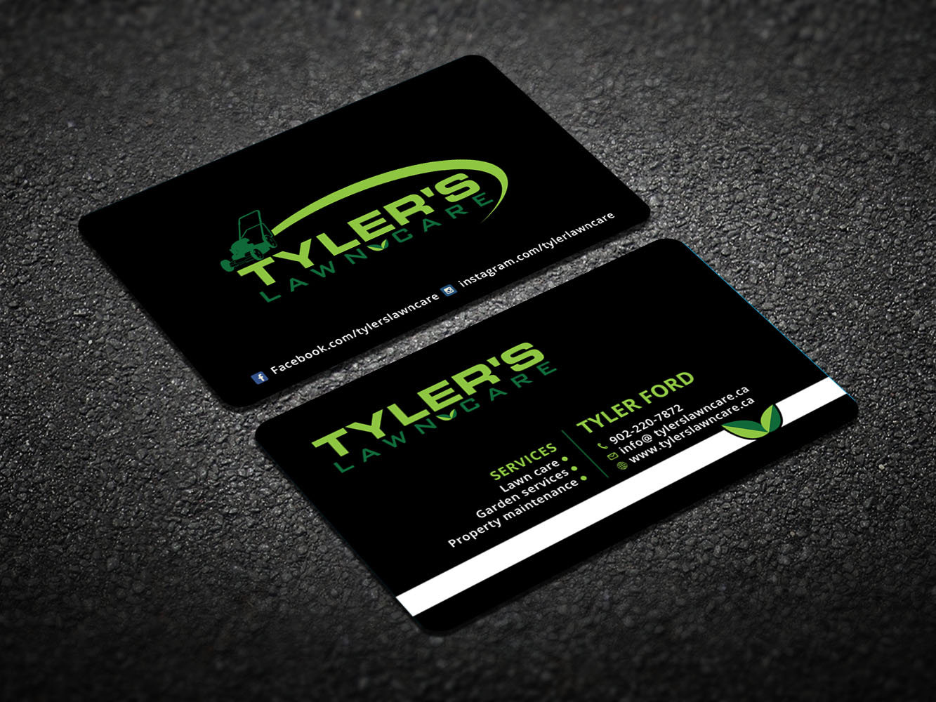 business card design by design xeneration for tylers lawn care design 10618894 - Lawn Service Business Cards