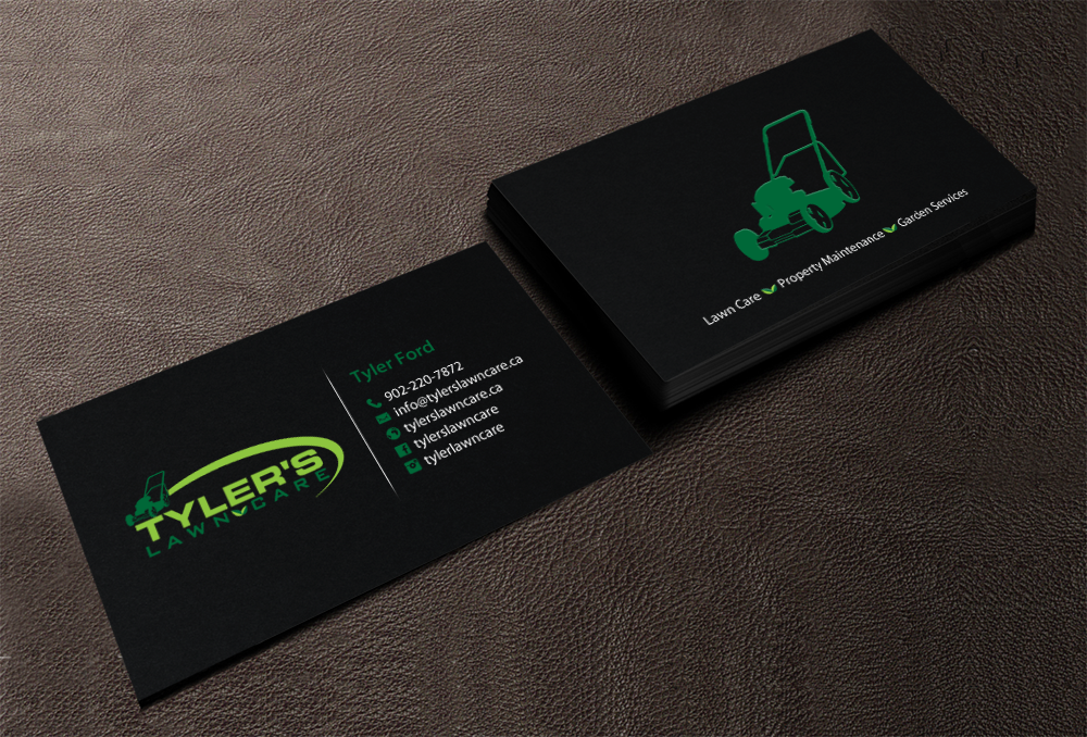 business card design by chandrayaancreative for tylers lawn care design 10608329 - Lawn Service Business Cards