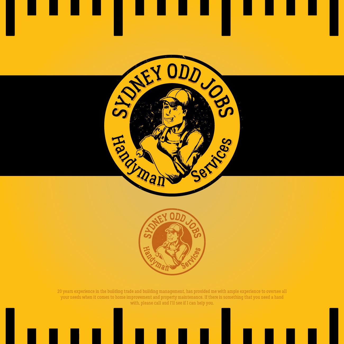 Serious, Masculine, Handyman Logo Design for Sydney Odd Jobs