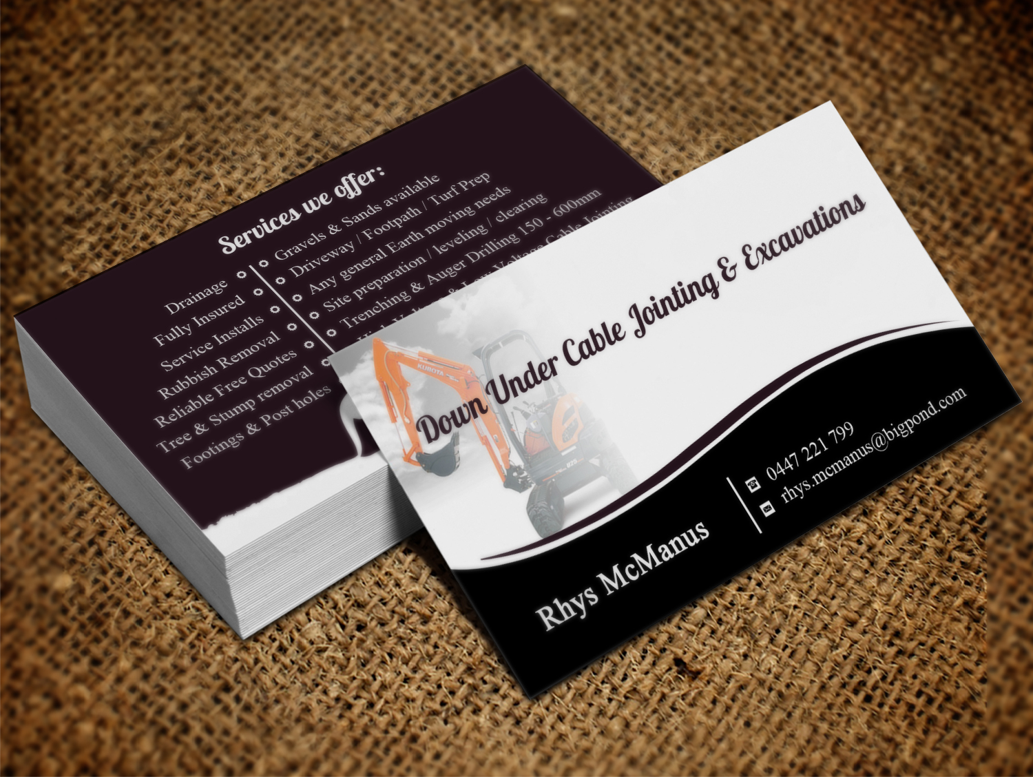 Masculine elegant construction business card design for a company business card design by creation lanka for this project design 10690905 colourmoves Choice Image