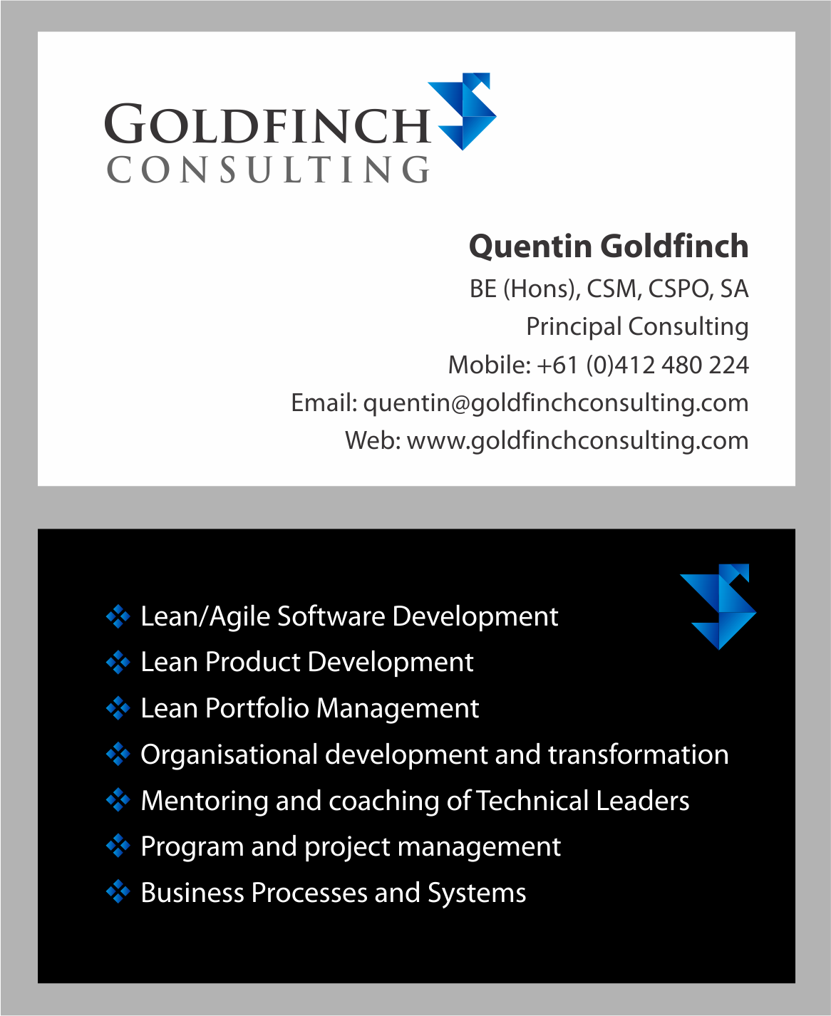 Professional business cards australia images card design and card modern professional business card design for goldfinch consulting business card design by diana999 for rd and reheart Gallery