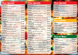 Menu Design by Ekanite - pizzabella 2, matching graphic image