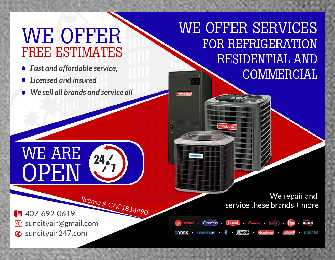 Bold, Serious, Hvac Flyer Design for a Company by hih7