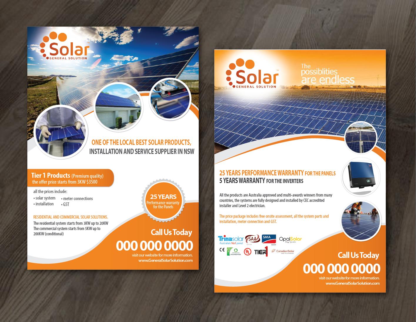 Elegant Modern Solar Energy Flyer Design For General