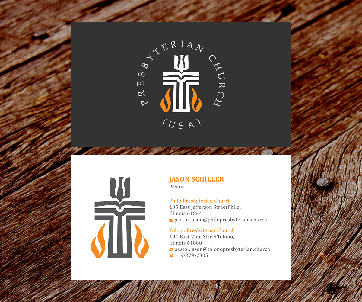 business card design by ss_designs for this project design 10686598 - Pastor Business Cards
