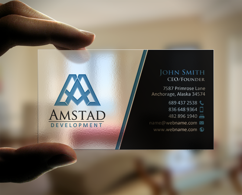 Elegant professional real estate development business card design business card design by chandrayaaneative for this project design 10659941 reheart Image collections