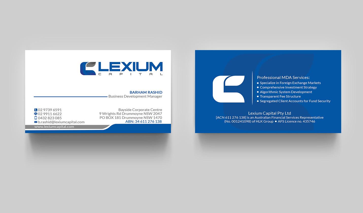 Serious, Modern, Financial Service Business Card Design for a ...