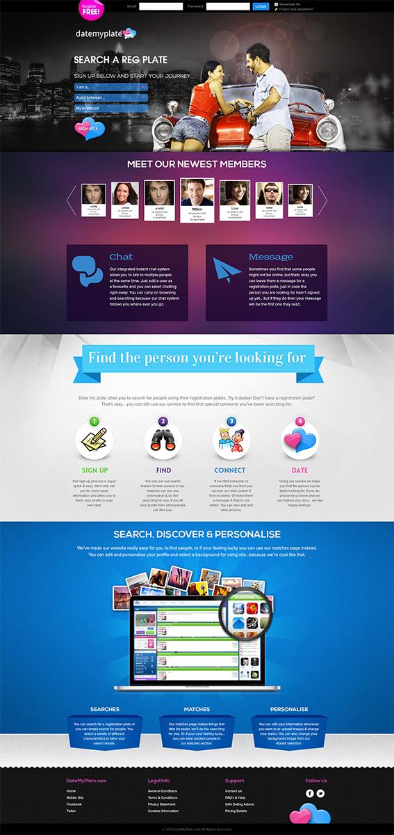 Dating web design