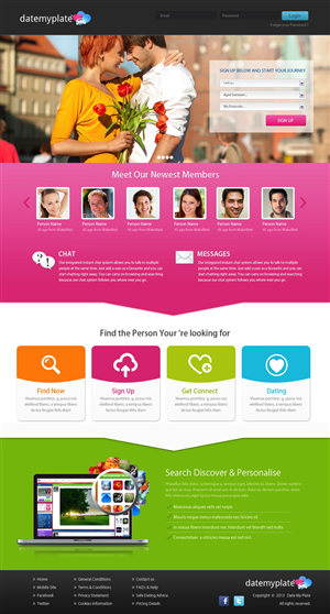 website design for online dating