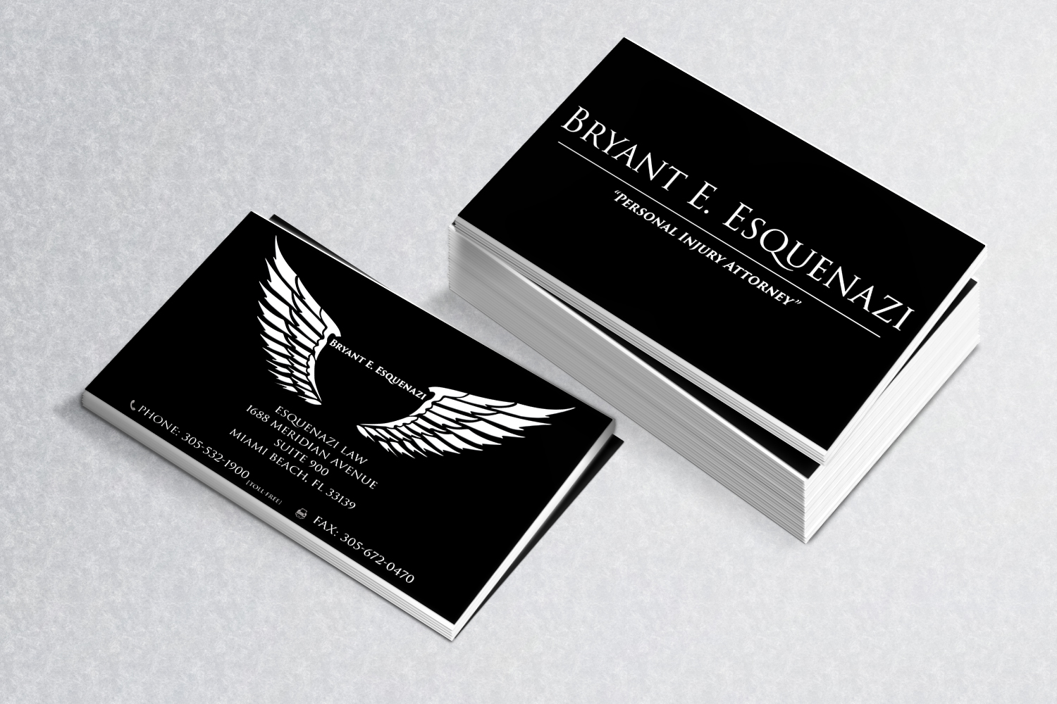 Serious, Modern, Legal Business Card Design for Esquenazi Law by NK ...