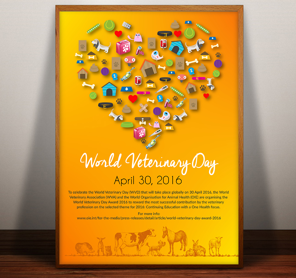 Poster design article - Poster Design By Sd Web Creation For Poster To Promote World Veterinary Day Design
