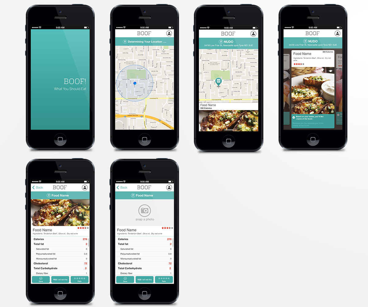 Modern playful restaurant app design for a company by