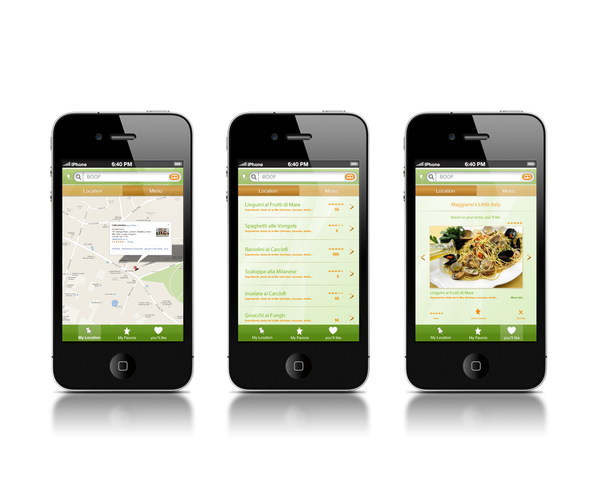 App Di Design modern, playful, restaurant app design for a company by