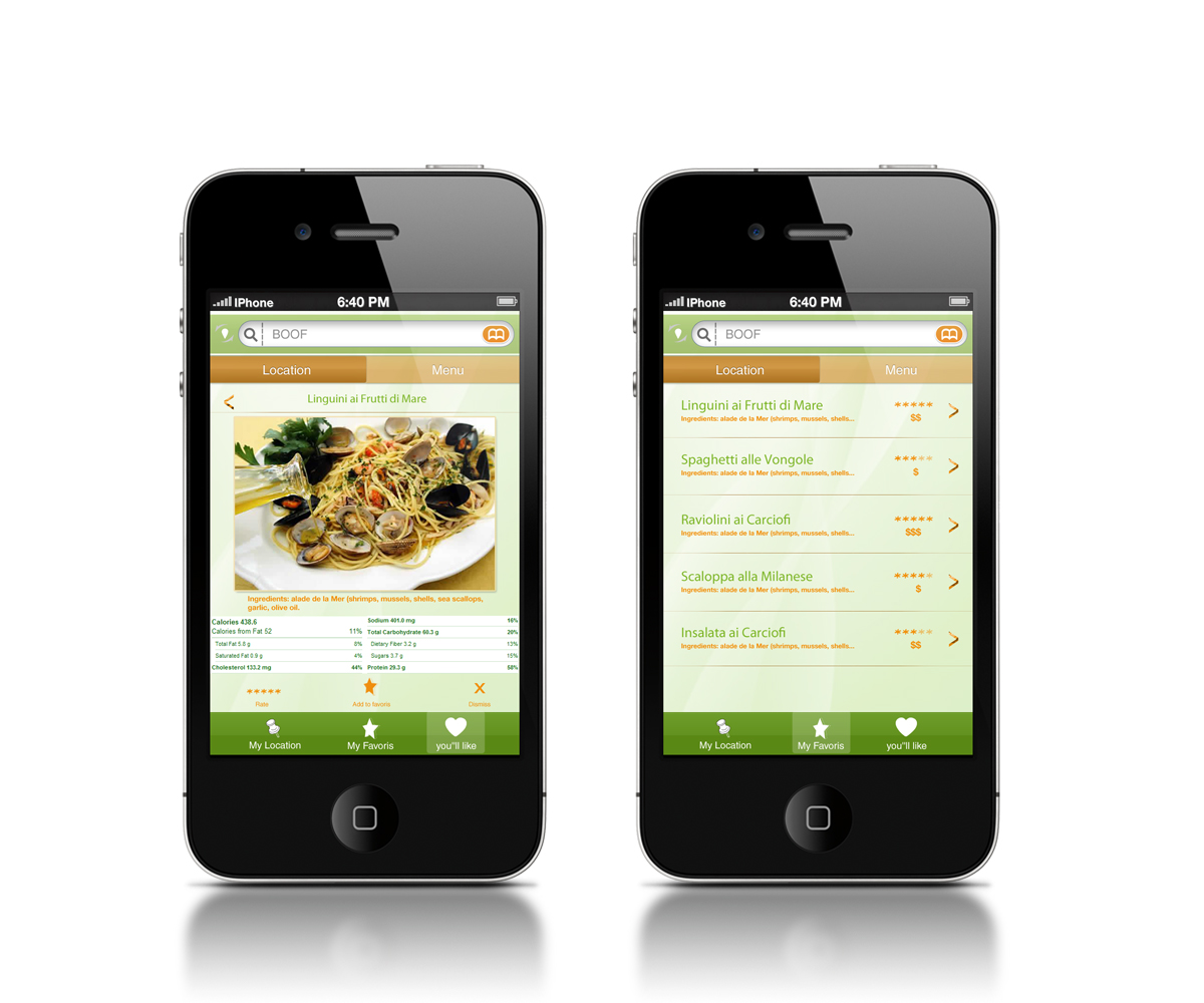 Need restaurant menu selection app design