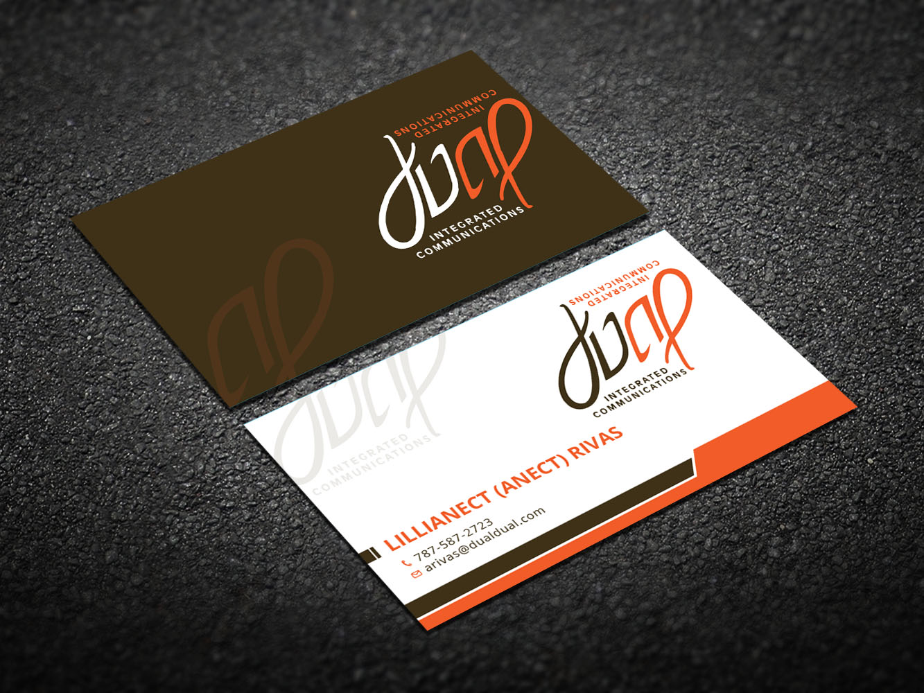 Playful colorful business business card design for dual integrated business card design by design xeneration for dual integrated communications design 10666907 colourmoves Gallery