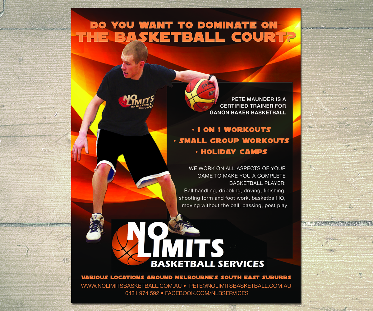 modern professional advertising flyer design for no limits