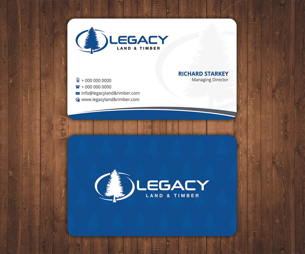 Professional serious business business card design for legacy land business card design by stylez designz for legacy land timber design 10755900 reheart Image collections