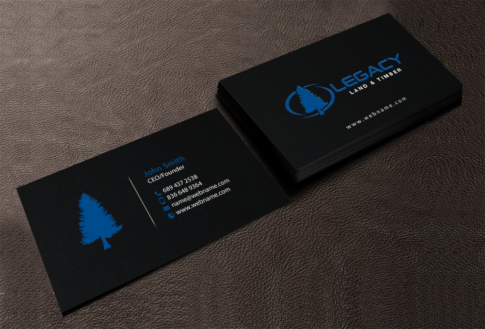 Professional serious business business card design for legacy land business card design by chandrayaaneative for legacy land timber design 10681801 reheart Image collections
