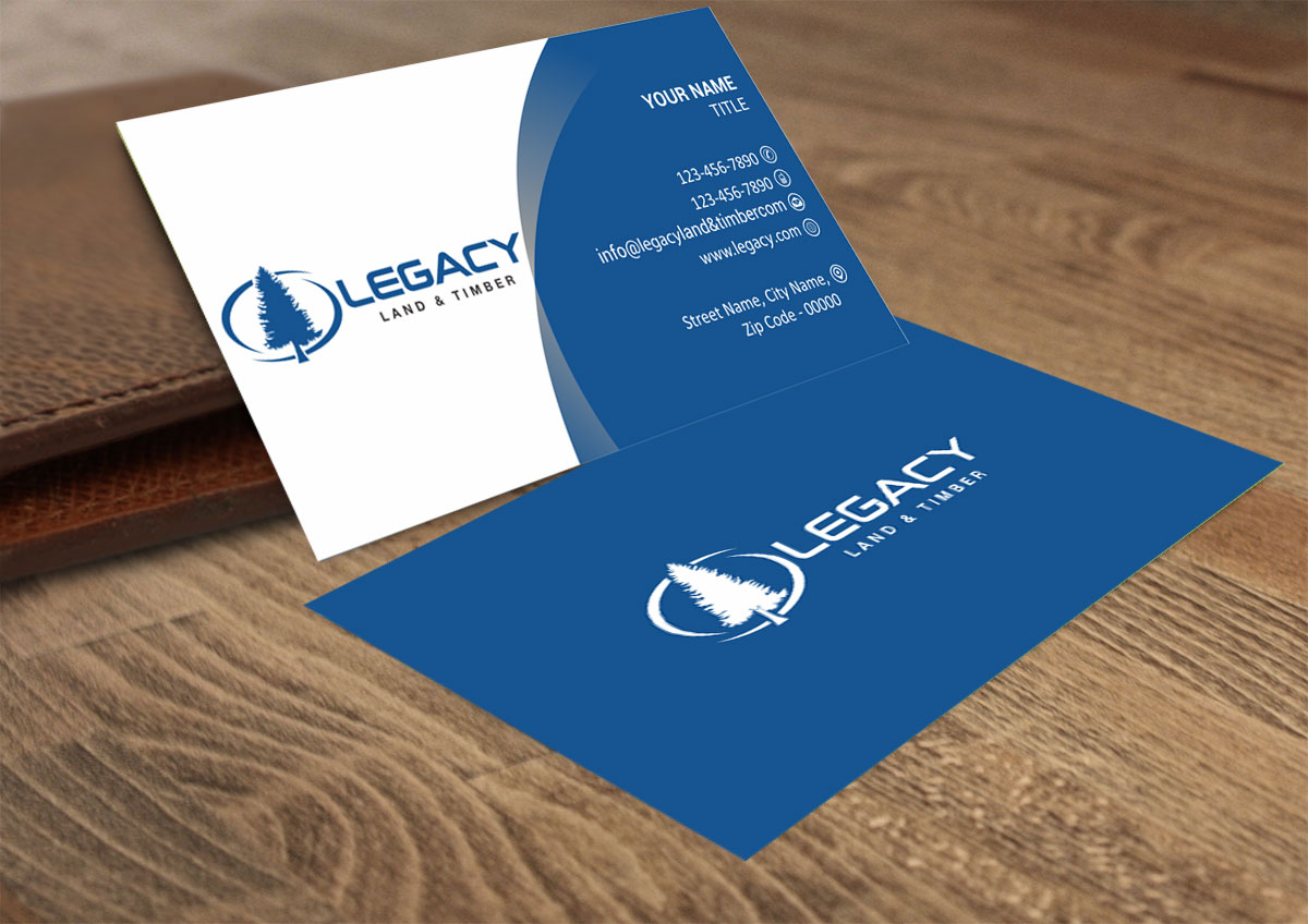 Professional, Serious, Business Business Card Design for Legacy Land ...