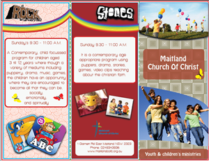 Brochure Design by Buly - Kid's Church Brochure Design for
