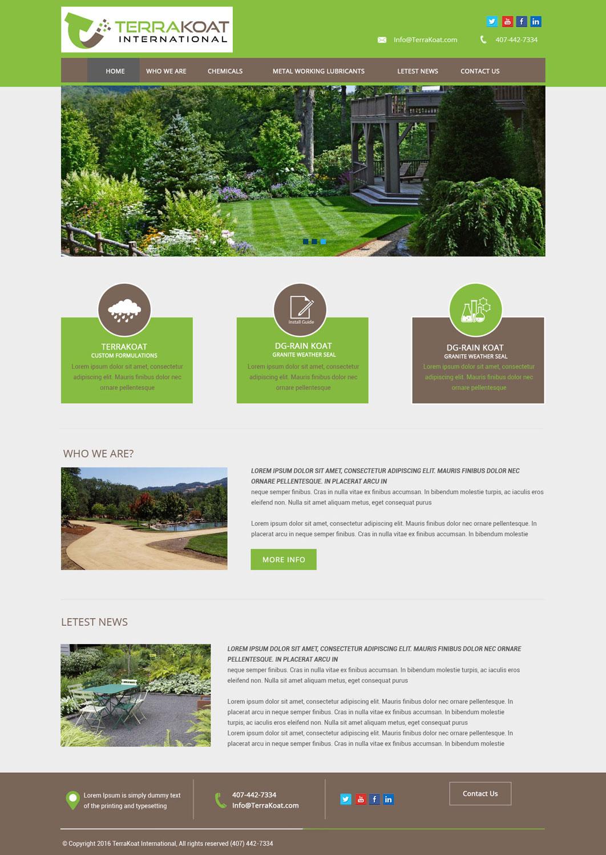 Bold, Serious, It Professional Web Design for TerraKoat