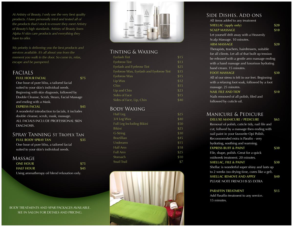 Elegant, Personable, Beauty Salon Brochure Design for Artistry of ...