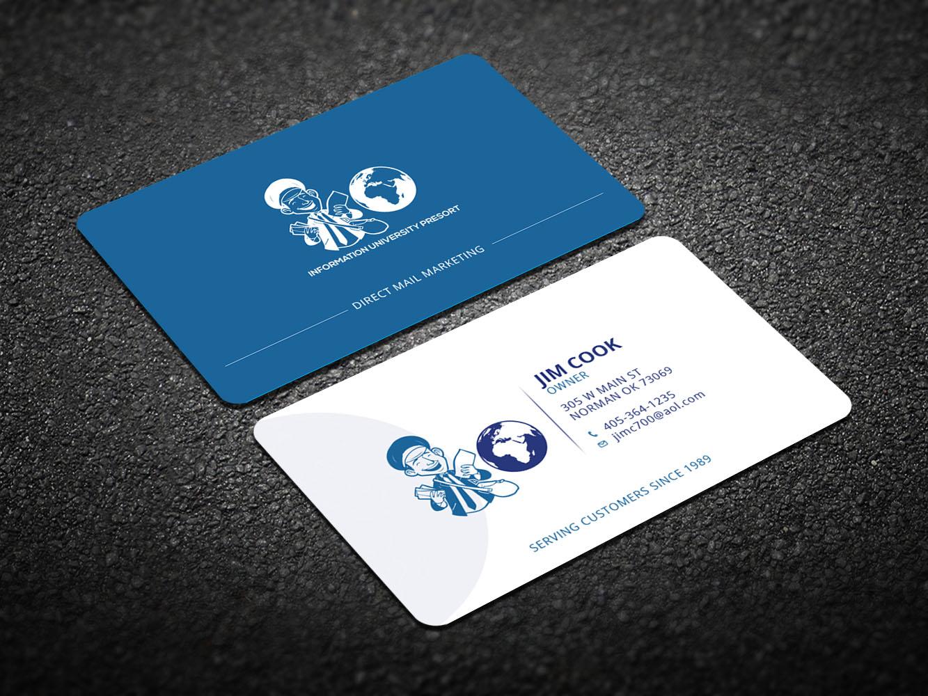 Upmarket elegant business card design for jim cook by creative business card design by creative design for university presort direct mail business card design magicingreecefo Image collections