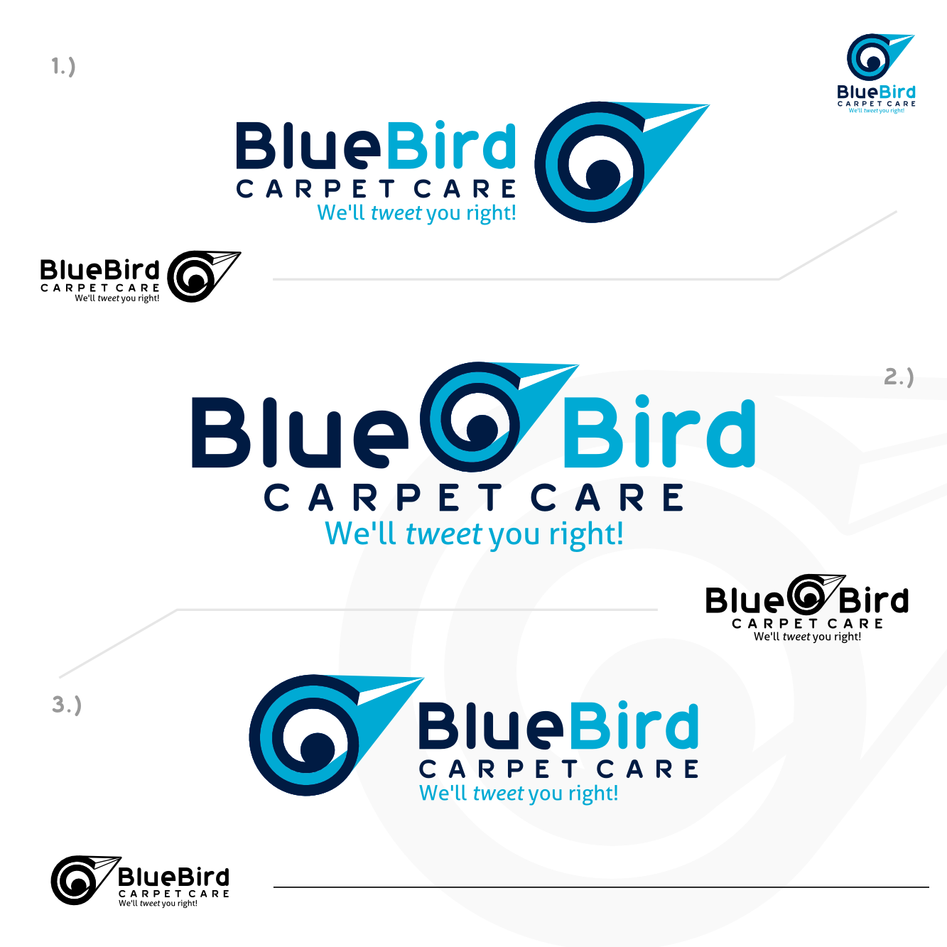 Playful, Personable, Cleaning Service Logo Design for Blue Bird ...