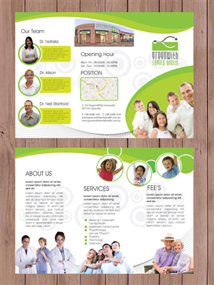 feminine serious medical brochure design for a company by jhon06