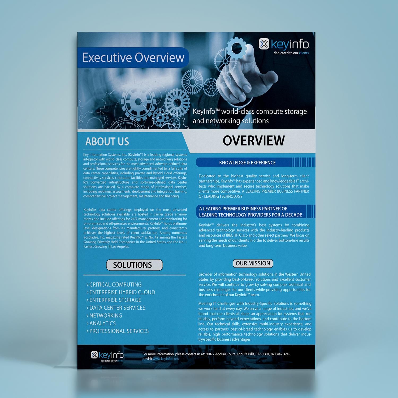 professional elegant information technology flyer design for a