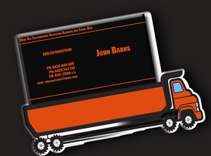 Truck business card designs truck business card design by abeer samy colourmoves