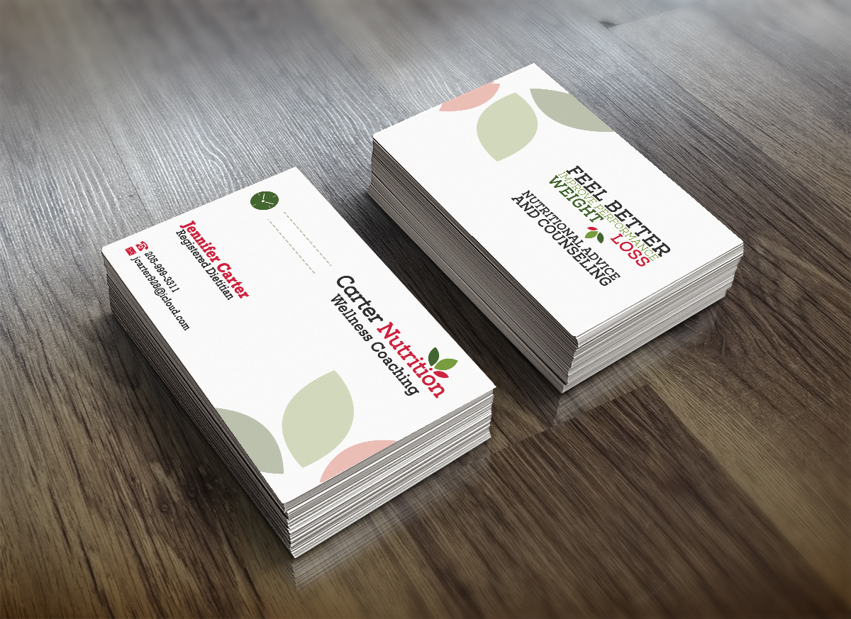 dd32f07eb8f Business Card Design by MS Design for Carter Nutrition