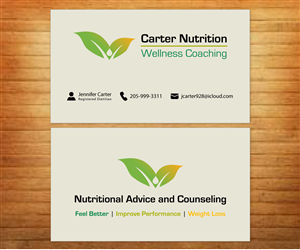 063b8722532 Business Card Design by Fadzli Razali for Carter Nutrition