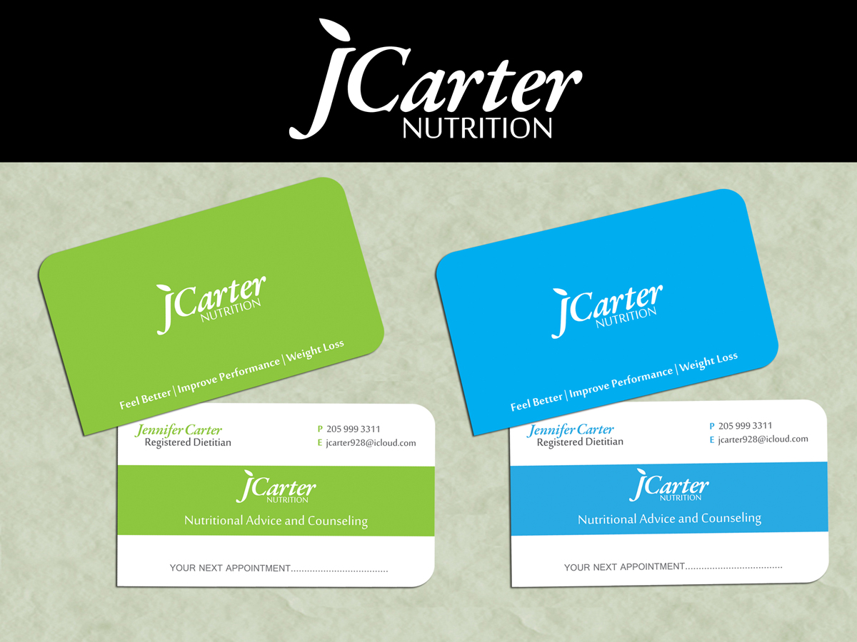 78 upmarket business card designs nutrition business card design business card design by abee creative annie lam for carter nutrition design colourmoves