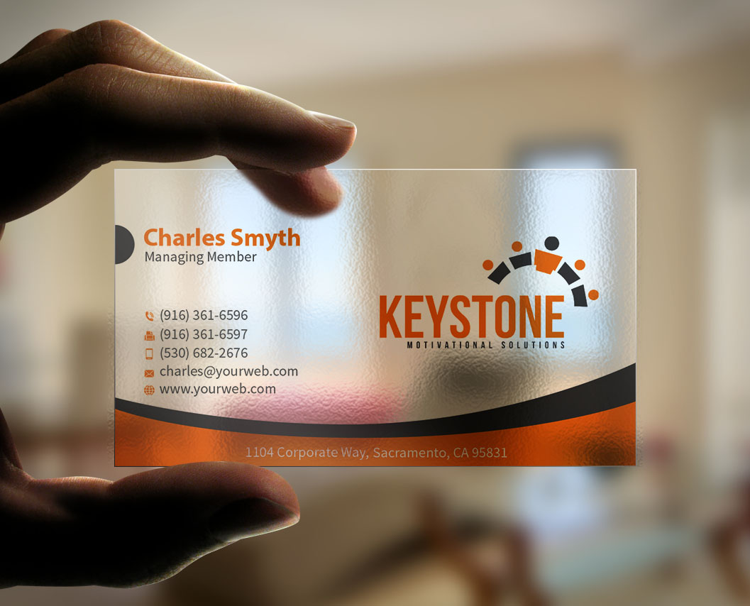 Masculine bold business business card design for keystone business card design by mediaproductionart for keystone motivational solutions design 10732239 colourmoves