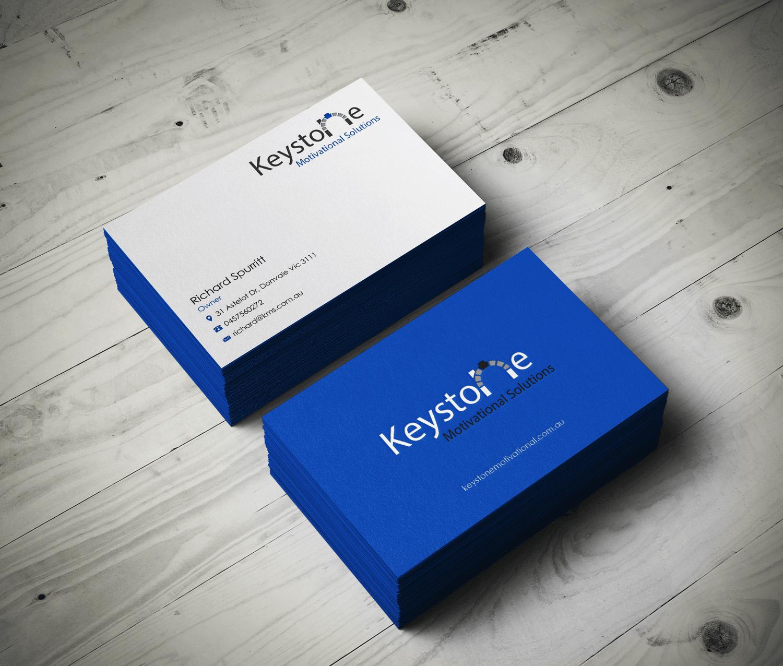 Masculine, Bold Business Card Design for Keystone Motivational ...