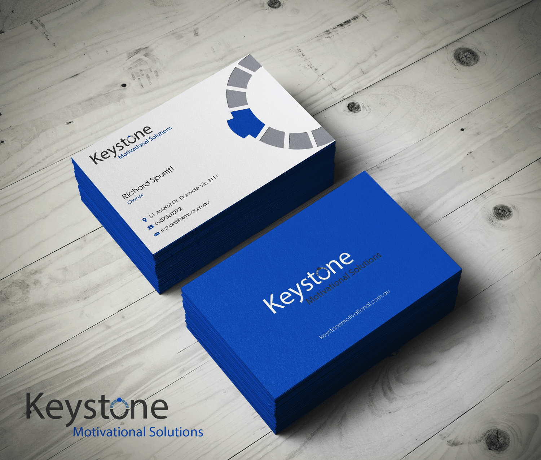 Masculine bold business business card design for keystone business card design by riz for keystone motivational solutions design 10786217 colourmoves