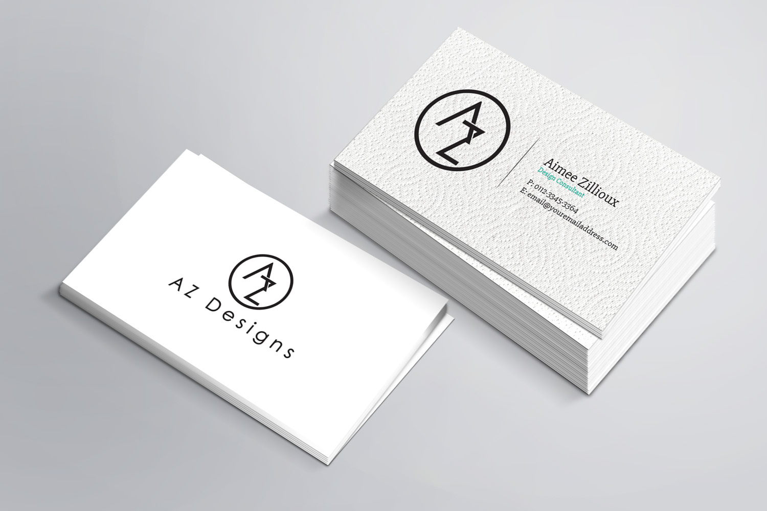 Elegant, Feminine Business Card Design for AZ Designs by ...