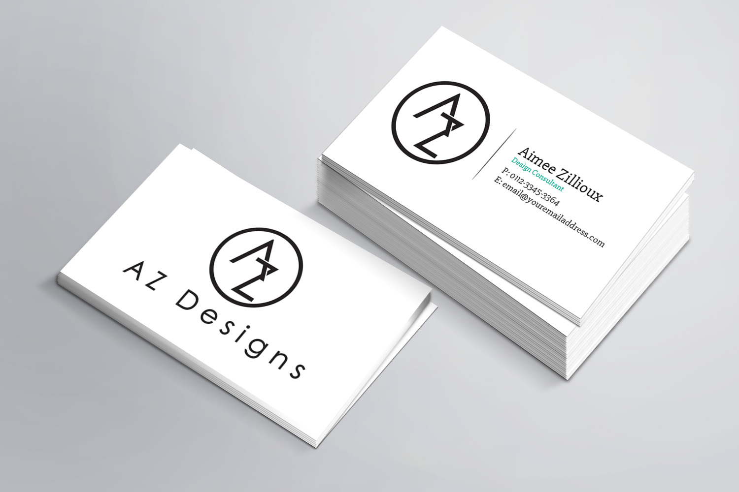 Business Card Design By Sandaruwan For AZ Designs
