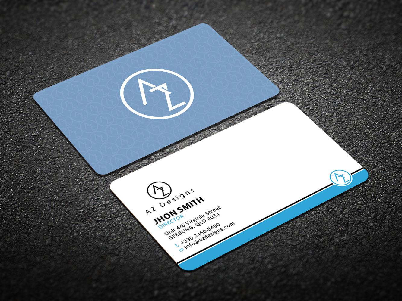Elegant feminine design agency business card design for az designs business card design by design xeneration for az designs design 10751096 reheart Images